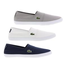 75c9a47a36 Lacoste Marice BL 2 CAM Mens Canvas Slip On Trainers Shoes Size UK 7-11