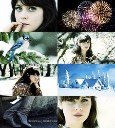 If the Months had Faces - January by ~checkers007 on deviantART - Zooey Deschanel