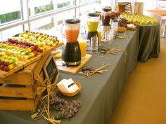 Barra de desayuno by Ànima catering en la inauguración de las oficinas de Unilver