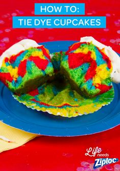 These fun cupcakes are so easy to make. Just mix 1 box of cake batter evenly into 4 different Ziploc® containers. Add food coloring to each bowl to make red, blue, yellow and green. Spoon the different colors of cake batter right inside of a Ziploc® bag. Pipe and layer each color into muffin tins. They're the perfect dessert for birthday or end-of-school parties. Just finish with frosting, sprinkles, and our Angry Birds cupcake toppers. See The Angry Birds Movie in theaters May 20th.