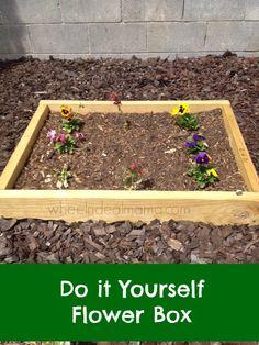 Do it Yourself Flower Box