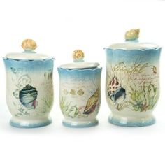 3 piece stoneware canister set for Hearth and home designs canister set