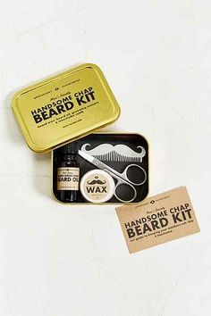 Shop Men's Society Beard Grooming Kit at Urban Outfitters today. Beard Grooming Kits, Men's Grooming, Mustache Grooming, Beard Wax, Men Beard, Wax Man, Beard Gifts, Guy Gifts, Gift Baskets For Women