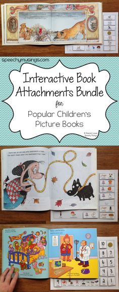 Book Attachments Speechy Musings: Check out my Interactive Book Attachments! Great for so many targets AND easy to assemble!Speechy Musings: Check out my Interactive Book Attachments! Great for so many targets AND easy to assemble! Education And Literacy, Preschool Literacy, Preschool Books, Literacy Activities, Special Education, Interactive Books For Preschoolers, Early Literacy, Speech Therapy Activities, Language Activities