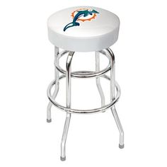 Bar stools at Kohl's - This MLB Los Angeles Dodgers bar stool features a team logo graphic. Black Bar Stools, 30 Bar Stools, Swivel Bar Stools, Vikings Football, Minnesota Vikings, Nfl Football, Football Season, Chicago Cubs, Pool Table Supplies