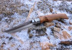 """Opinel knife (No. 8) Modified/custom (olivewood) handle. """"The Hunter"""""""