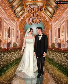 Cute And Trendy E Invitation Designs For The Intimate Weddings E Invite, Invitation Card Design, Digital Invitations, Invitation Cards, Wedding Fans, Wedding Blog, Wedding Planner, Digital Portrait, Intimate Weddings