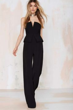 Nasty Gal Love to Love You Peplum Jumpsuit - Rompers + Jumpsuits | Rompers + Jumpsuits