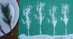 Fir tree printing - Christmas crafts for kids - Netmums