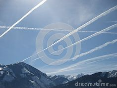 Photo about Lines made by flying planes. Image of white, made, flying - 51366555 Fly Plane, Austria, Planes, Stock Photos, Blue, Image, Pictures, Airplanes, Plane