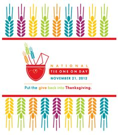 "Put the ""give"" back in Thanksgiving by stitching up an apron for someone in need - check out National Tie One On Day!"