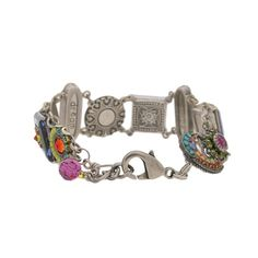 Firefly dolce vita reversible bracelet. This beautiful bracelet comprises Austrian crystals and Czech glass beads with an intricate mosaic design. Made in Guatemala.  Sterling silver clasp. Bracelet measures 7″ long. Reversible to all silver or the color side. No trades or lowered price :/ sorry this is valuable. Firefly Jewelry Bracelets