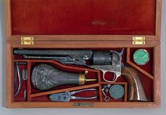 This finely engraved revolver was presented by Samuel Colt to Major Charles Traintor Baker (1821–1881), an officer in the Fifth Regiment of Connecticut Volunteers, at the outbreak of the Civil War.