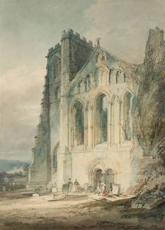Joseph Mallord William Turner, 'Llandaff: The West Front of the Cathedral' (J. Turner: Sketchbooks, Drawings and Watercolours) Joseph Mallord William Turner, Turner Watercolors, Turner Painting, English Romantic, Royal Academy Of Arts, Oil Painting Reproductions, Classical Art, A4 Poster, Les Oeuvres