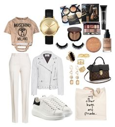"""OOTD"" by madisonkiss on Polyvore featuring Moschino, Too Faced Cosmetics, Iman, MAC Cosmetics, MAKE UP FOR EVER, Rimmel, Jil Sander, Alexander McQueen, Prada and Acne Studios"