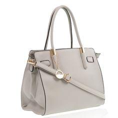 Luxury designer vegan faux leather handbags for ladies in grey colour