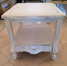 Shabby chic end table cottage chic by AccardiCreativeWorks on Etsy, $70.00