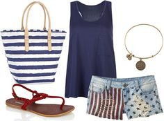 4th of July outfit. So cute.