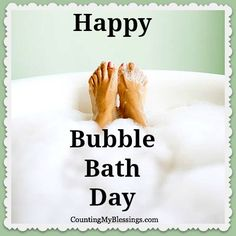 Why You Should Celebrate Bubble Bath Day | Counting down to Jan 8