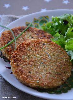 Quinoa-Pastetchen, Schnittlauch, Parmesan (L & # Heure du Cream) - quinoa - Vegan Veggie Soup Recipes, Vegetarian Recipes, Healthy Recipes, Healthy Protein Breakfast, Healthy Snacks, Healthy Cooking, Healthy Eating, Cooking Recipes, Nuggets