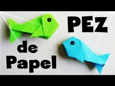 ▶ Pez de Papel - Papiroflexia Tutorial - YouTube