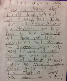 3rd grader responds to Trump?s immigration stance with surprisingly RACIST argument: