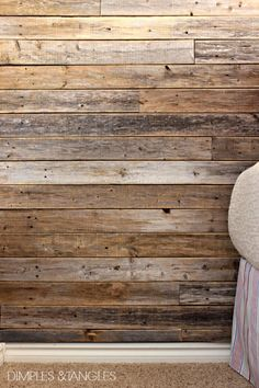Dimples and Tangles: DIY WOOD FENCE PLANK WALL {TUTORIAL}