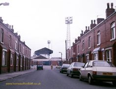 First Avenue with Springfield Park in the background Old Pictures, Old Photos, Wigan Athletic, Football Stadiums, Football Team, Nostalgic Pictures, Charlton Athletic, Industrial Architecture, Leeds United