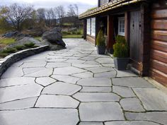 My House, Sidewalk, Patio, Outdoor Decor, Slate, Home, Google Search, Gardening, Ideas