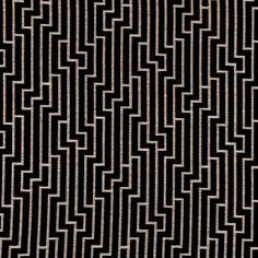Black and Grey Geometric Velvet Upholstery Fabric for Furniture - Modern Black…