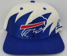 Buffalo Bills Vintage Snapback Logo Athletic Sharktooth Hat NFL Rare Cap Starter