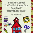 What to do with all those supplies that come to school those first days? Play a game with your students and make the task fun! Clues are written in...