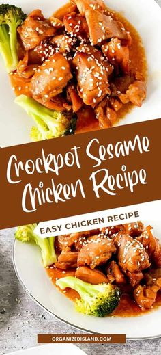 A delicious Crockpot Sesame Chicken Recipe served with tasty sweet and savory sesame flavor. This easy chicken recipe is full of flavor.