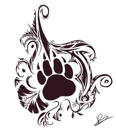 Bear Paw And Tribal Tattoos