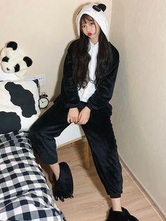 478f349f3b Women Panda Flannel Warm One-Piece Pajamas✨🐼✨ want to become a Panda