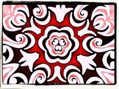 Mandala aus einer Zeichnung meinereiner.