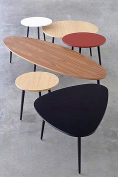 The Soho oval coffee table is a sleek and practical occasional table designed by the in house design team at Coedition. The oval table top rests on four conica