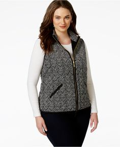 e7f6aea460f Charter Club Plus Size Printed Knit Vest