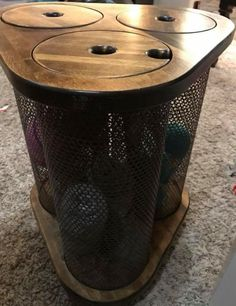 Yarn storage end table