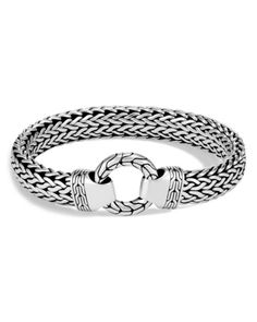 4d3b8b721 John Hardy Men's Sterling Silver Classic Chain Ring Bracelet Mens Silver  Jewelry, Sterling Silver Bracelets