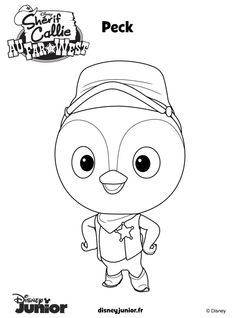 Coloring Disney Junior Coloring Pages Sheriff Callies Toby