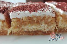 Expresní jablečný koláček s pudinkem | NejRecept.cz Czech Recipes, Ethnic Recipes, Hungarian Cake, Toffee Bars, Pavlova, Food Inspiration, Sweet Tooth, Bakery, Deserts
