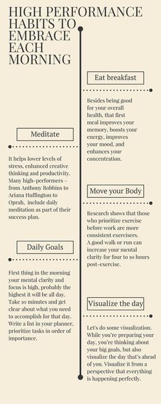 Dailyt High Performance Habits
