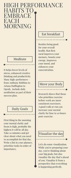 Dailyt High Performance Habits