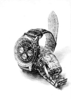 Drawing Still Life Sketch, Still Life Drawing, Realistic Pencil Drawings, Graphite Drawings, Cartoon Sketches, Drawing Sketches, Drawing Ideas, Clock Drawings, Art Drawings