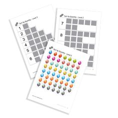 Sort by Quantity of the serie Easter. Sorting, Easter, Printables, Print Templates