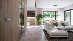 Projekt domu HomeKoncept-73 174,27 m2 - koszt budowy - EXTRADOM Plans Architecture, Modern House Plans, My Dream Home, Bungalow, Beach House, Sweet Home, House Design, Furniture, Home Decor