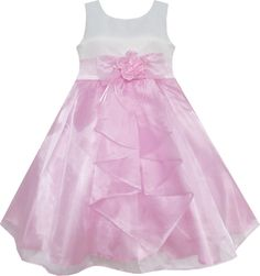 Sunny Fashion Little Girls Dress Pink Princess Wedding Bridesmaid Pageant 6 ** Learn more by visiting the image link. Red Flower Girl Dresses, Little Girl Dresses, Purple Dress, Girls Dresses, Princess Girl, Princess Wedding, Father Daughter Dance Dresses, Dress Outfits, Kids Outfits