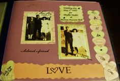 Scrapbook page of my parents love