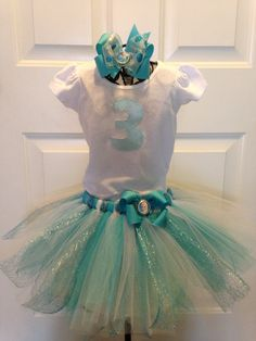 Frozen Queen Elsa Birthday Tutu Outfit on Etsy!